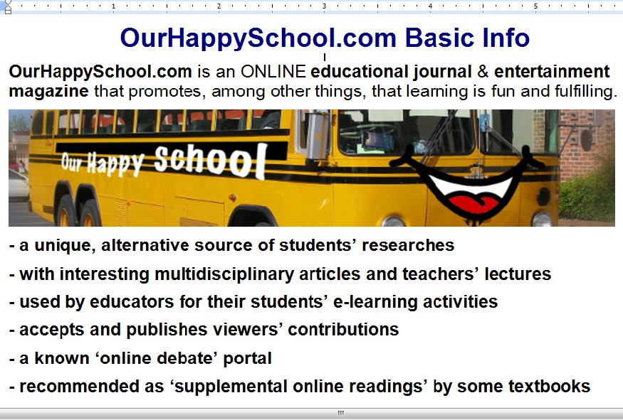 About | OurHappySchool